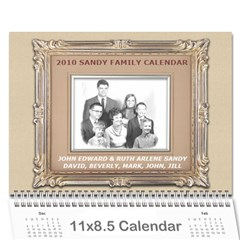2010 Sandy Family Calendar By Jill Coston   Wall Calendar 11  X 8 5  (12 Months)   Wws5sf418nqb   Www Artscow Com Cover