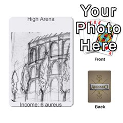 Arenario Deck 1 By Stephen Tavener   Playing Cards 54 Designs   6tth5k8p40oz   Www Artscow Com Front - Spade6