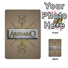 Arenario 1 1 Deck 2 By Stephen Tavener   Playing Cards 54 Designs (rectangle)   X34st1z4mfsg   Www Artscow Com Back