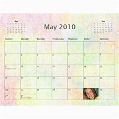 Batten Cal By Nancyb   Wall Calendar 11  X 8 5  (12 Months)   56x20h4f7df8   Www Artscow Com May 2010