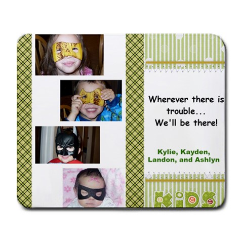 Kids Mouse Pad By Susan Bangerter   Collage Mousepad   Uscpoqpqnilh   Www Artscow Com 9.25 x7.75  Mousepad - 1