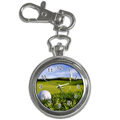 golf ball on grass Key Chain Watch from ArtsNow.com Front