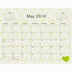 Mom s Calendar 2010 By Mary   Wall Calendar 11  X 8 5  (12 Months)   Gj4pf73yzufg   Www Artscow Com May 2010