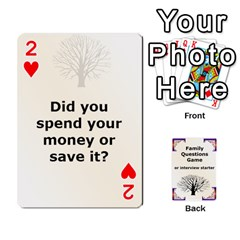 Family Question Card Game By Laurrie   Playing Cards 54 Designs   07o1lmsev80p   Www Artscow Com Front - Heart2