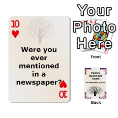 Family Question Card Game By Laurrie   Playing Cards 54 Designs   07o1lmsev80p   Www Artscow Com Front - Heart10