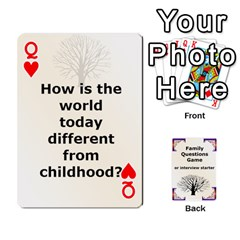 Queen Family Question Card Game By Laurrie   Playing Cards 54 Designs   07o1lmsev80p   Www Artscow Com Front - HeartQ