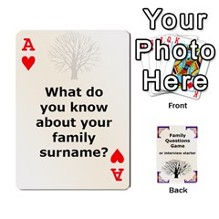 Ace Family Question Card Game By Laurrie   Playing Cards 54 Designs   07o1lmsev80p   Www Artscow Com Front - HeartA