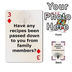 Family Question Card Game By Laurrie   Playing Cards 54 Designs   07o1lmsev80p   Www Artscow Com Front - Diamond3