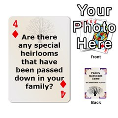 Family Question Card Game By Laurrie   Playing Cards 54 Designs   07o1lmsev80p   Www Artscow Com Front - Diamond4