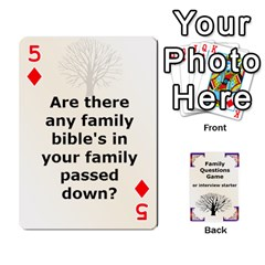 Family Question Card Game By Laurrie   Playing Cards 54 Designs   07o1lmsev80p   Www Artscow Com Front - Diamond5