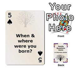 Family Question Card Game By Laurrie   Playing Cards 54 Designs   07o1lmsev80p   Www Artscow Com Front - Spade5