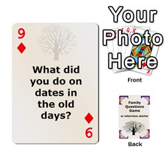 Family Question Card Game By Laurrie   Playing Cards 54 Designs   07o1lmsev80p   Www Artscow Com Front - Diamond9