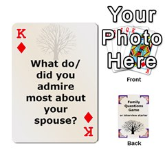 King Family Question Card Game By Laurrie   Playing Cards 54 Designs   07o1lmsev80p   Www Artscow Com Front - DiamondK