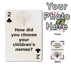 Family Question Card Game By Laurrie   Playing Cards 54 Designs   07o1lmsev80p   Www Artscow Com Front - Club2