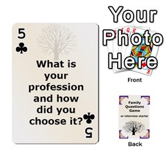 Family Question Card Game By Laurrie   Playing Cards 54 Designs   07o1lmsev80p   Www Artscow Com Front - Club5