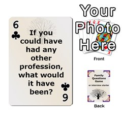 Family Question Card Game By Laurrie   Playing Cards 54 Designs   07o1lmsev80p   Www Artscow Com Front - Club6