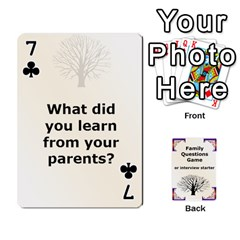 Family Question Card Game By Laurrie   Playing Cards 54 Designs   07o1lmsev80p   Www Artscow Com Front - Club7
