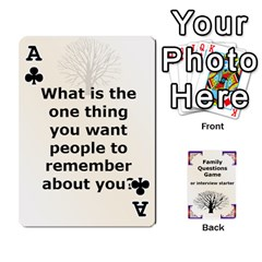 Ace Family Question Card Game By Laurrie   Playing Cards 54 Designs   07o1lmsev80p   Www Artscow Com Front - ClubA