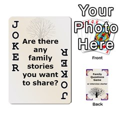 Family Question Card Game By Laurrie   Playing Cards 54 Designs   07o1lmsev80p   Www Artscow Com Front - Joker1