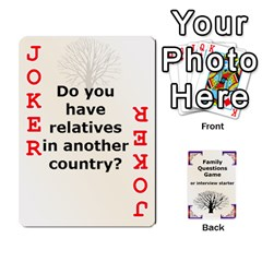 Family Question Card Game By Laurrie   Playing Cards 54 Designs   07o1lmsev80p   Www Artscow Com Front - Joker2