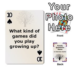 Family Question Card Game By Laurrie   Playing Cards 54 Designs   07o1lmsev80p   Www Artscow Com Front - Spade10