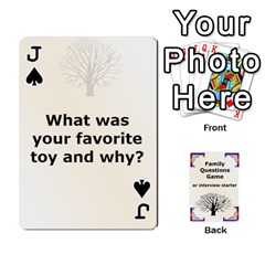 Jack Family Question Card Game By Laurrie   Playing Cards 54 Designs   07o1lmsev80p   Www Artscow Com Front - SpadeJ