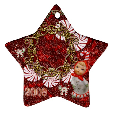 Star Candy Cane Christmas Ornament By Ellan   Ornament (star)   Uthlo8u66b2i   Www Artscow Com Front