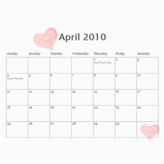 Robert s Calendar 2010 By Mary   Wall Calendar 11  X 8 5  (12 Months)   Xtejifsri9wm   Www Artscow Com Apr 2010