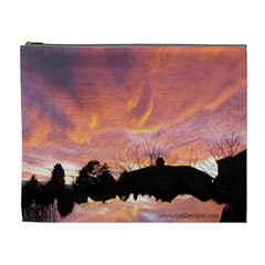Sunset Sky Large Cosmetic Bag By Catvinnat   Cosmetic Bag (xl)   Dam22yfvqknw   Www Artscow Com Front