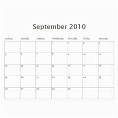 Calendar 2010 By Pangrutai   Wall Calendar 11  X 8 5  (12 Months)   Hqy2vcnt276o   Www Artscow Com Sep 2010
