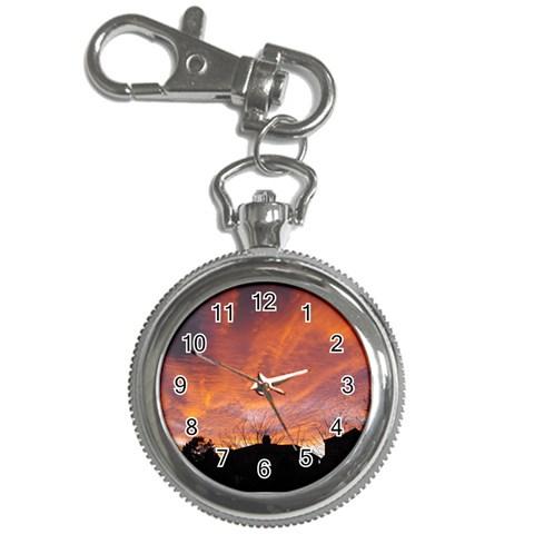 Salmon Sunset Keychain Watch By Catvinnat   Key Chain Watch   Ou688z3xx6fi   Www Artscow Com Front