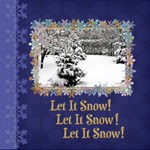 Let It Snow! - ScrapBook Page 12  x 12