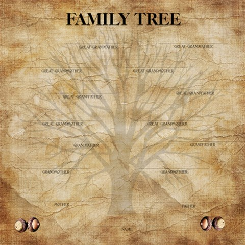 Family Tree Scrapbook Pg 12x12 By Laurrie   Scrapbook Page 12  X 12    Igkxvfuhuyvh   Www Artscow Com 12 x12 Scrapbook Page - 1