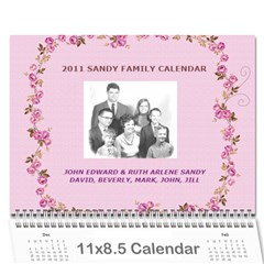 2010 Sandy Family Calendar By Jill Coston   Wall Calendar 11  X 8 5  (12 Months)   8wgvftlcbpyy   Www Artscow Com Cover