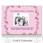2010 Sandy Family Calendar - Wall Calendar 11  x 8.5  (12-Months)