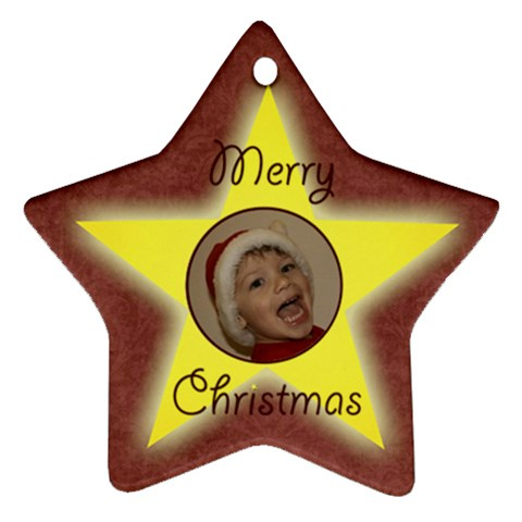 Starry Night Christmas Star By Mim   Ornament (star)   Bfmmpfge8y09   Www Artscow Com Front