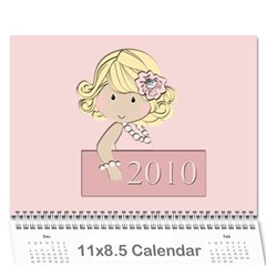 Calendar Girls Example By Rubyjanedesigns   Wall Calendar 11  X 8 5  (12 Months)   Jkuwbbfozmp2   Www Artscow Com Cover