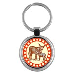 Donkey 9 Key Chain (Round)
