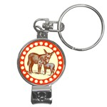 Donkey 9 Nail Clippers Key Chain