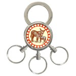 Donkey 9 3-Ring Key Chain