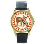 Donkey 9 Round Gold Metal Watch