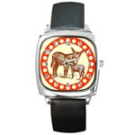Donkey 9 Square Metal Watch