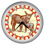Donkey 9 Wall Clock (Silver)