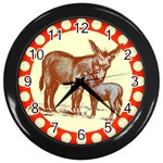 Donkey 9 Wall Clock (Black)