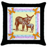 Donkey 9 Throw Pillow Case (Black)