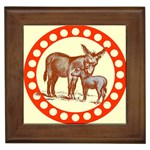 Donkey 9 Framed Tile