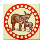 Donkey 9 Tile Coaster