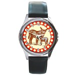 Donkey 9 Round Metal Watch