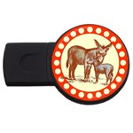 Donkey 9 USB Flash Drive Round (4 GB)
