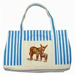 Donkey 9 Striped Blue Tote Bag